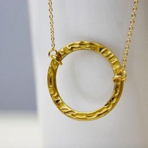 Giant Circle Necklace, Antique Bronze, Handmade 🌸